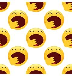 Yawning emoticon pattern vector