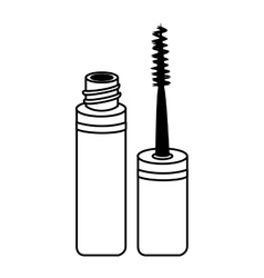Mascara make up brush isolated vector