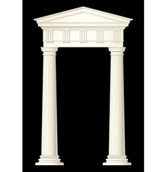 Classic columns drawing vector