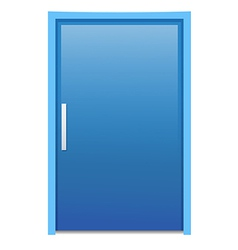 Blue door vector