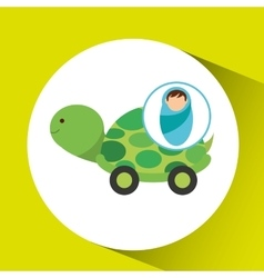 Boy newborn wrap tortoise toy design vector