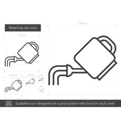 Watering can line icon vector