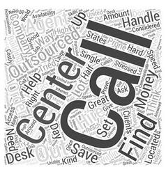 Call center outsourcing word cloud concept vector