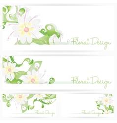 Flower background brochure Floral cards vector image