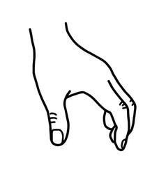 hand grabbing blank space - sketch vector image