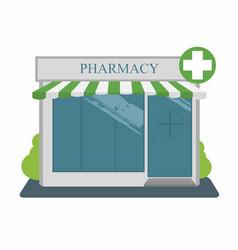pharmacy street building facade vector image