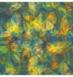Abstract colorful leaves nature background vector