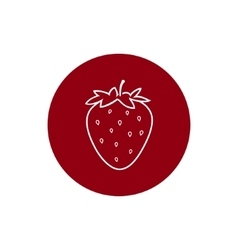 Icon strawberry in the contours vector