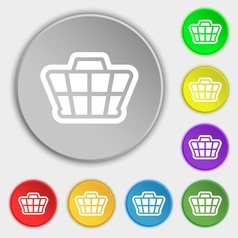 Shopping cart icon sign symbol on eight flat vector