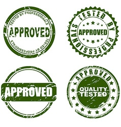 Green stamp - approved vector