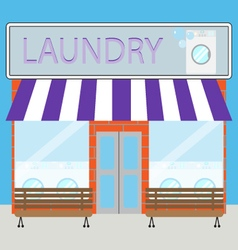 Building laundry flat design vector