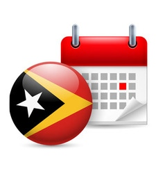 Icon of national day in east timor vector image