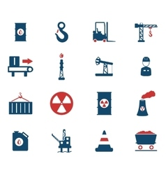 Industrial simply icons vector image