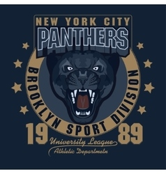 Panther Sport t-shirt graphics vector image