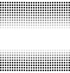 Dotted black background halftone pattern vector