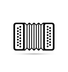 Accordion flat icon isolated on background vector