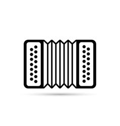 Accordion flat icon isolated on background vector image