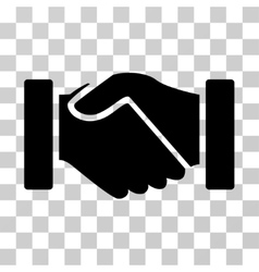 Acquisition handshake icon vector