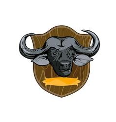 African buffalo retro vector
