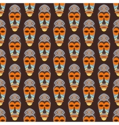 African mask seamless pattern vector