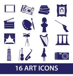 Art icons set eps10 vector