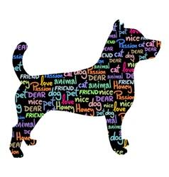Art pet dog vector