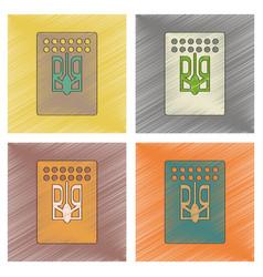 Assembly flat shading style icon emblem ukraine vector