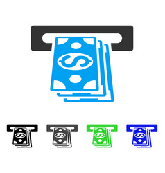 Atm cashout flat icon vector