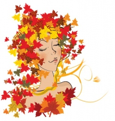 autumn weather vector image vector image