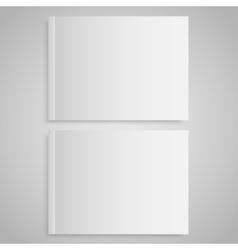 Blank empty magazine or book Mock up Two vector image