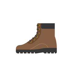 boot shoes icon flat design vector image