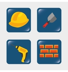 Builder tools vector