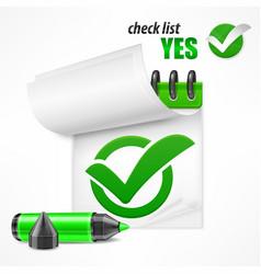 checkmark on checklist vector image