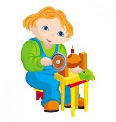 child seamstress vector image vector image