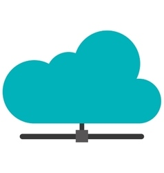 cloud attached to pipe icon vector image