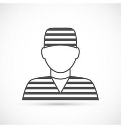 Criminal avatar icon vector image vector image