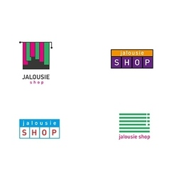 Development jalousie store logos series vector image