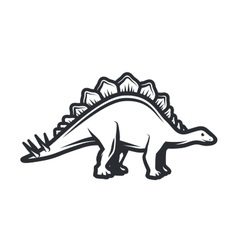 dino Logo concept Stegosaurus insignia vector image