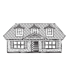 Drawing houses sketch vector