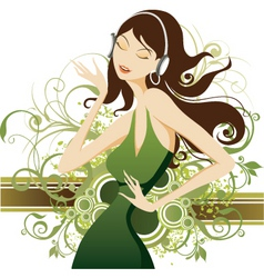 fashion Dj model vector image vector image