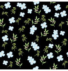 floral pattern brown vector image vector image