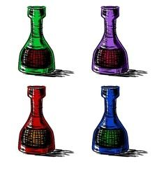 Glass bottles set vector image vector image