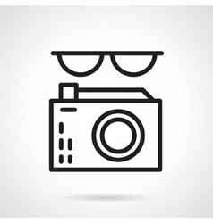 Journalist black line abstract icon vector