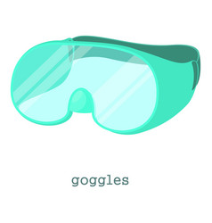 Laboratory goggles icon cartoon style vector