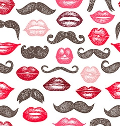 Ladies and gentlemen seamless pattern vector image