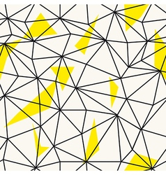 Low poly seamless repeat pattern triangular facets vector