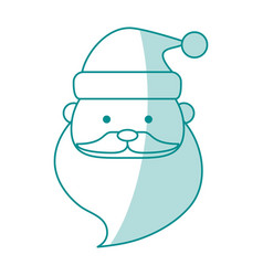 Monocromatic santas face design vector