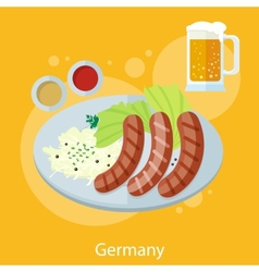 Oktoberfest germany food vector image