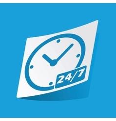 Overnight daily sticker vector