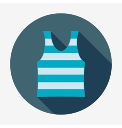 Pirate icon striped singlet Flat design vector image vector image